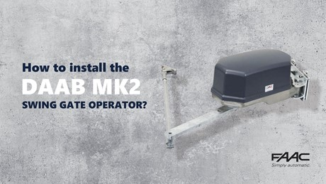 DAAB MK2 heavy duty swing door operator