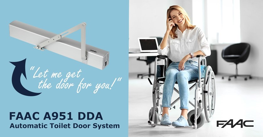 FAAC disabled toilet door system